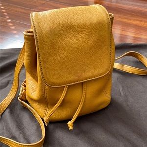 Coach leather back bag